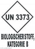 UN 3373 Biologischer Stoff, Kat. B  80x110
