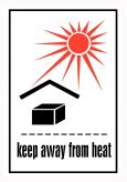 IATA Keep away from heat