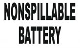NONSPILLABLE BATTERY