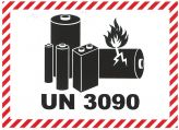 IATA Batterie 105x74 UN 3090