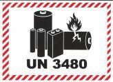 IATA Batterie 105x74 UN 3480