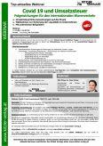 Webinar Covid 19 und Umsatzsteuer