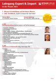 Lehrgang Export & Import 2020