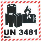 Lithium Batterien UN 3481 call 10x10
