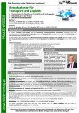 Webinar Umsatzsteuer für Transport und Logistk