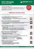 Webinar Lehrgang Zoll-Fachkraft P36