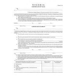 A 87 Nigeria Certificate of Value