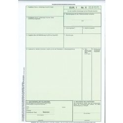1011 EUR 1 Durchschreibend