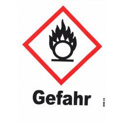 GHS 03 Gefahr 10x10