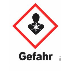 GHS 08 Gefahr 10x10