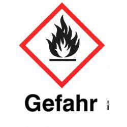 GHS 02 Gefahr 10x10