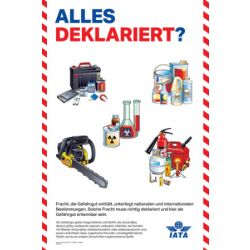"IATA Poster ""Alles deklariert?"" (9712-00)"