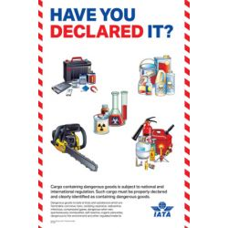 "IATA Poster ""Have you declared it?"" (9716-00)"