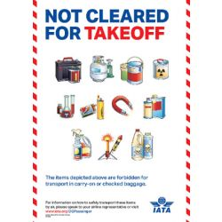 "IATA Poster ""Not Cleared For Takeoff"" Passenger Awareness Poster (9717-00)"