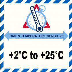 IATA Time & Temperatur 2-25°C