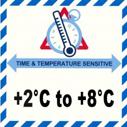 IATA Time & Temperatur 2-8°C
