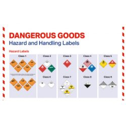 "IATA Poster ""Dangerous Goods Hazard and Handling Labels"""