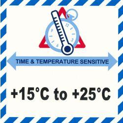 IATA Time & Temperatur 15-25°C
