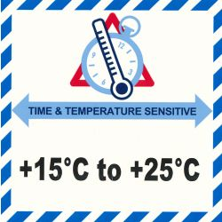 IATA Time & Temperatur 15-25°C