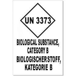 UN 3373 Kat. B englisch & deutsch