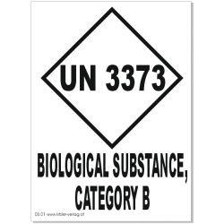 UN 3373 Kat. B englisch 80x110