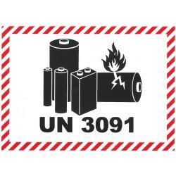 IATA Batterie 105x74 UN 3091