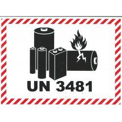 IATA Batterie 105x74 UN 3481
