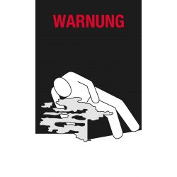 Warnung Kühlung 150x250