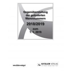 Gegenüberstellung der geänderten Warennummern 2018/19