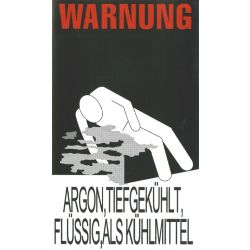 Warnung Kühlung Argon