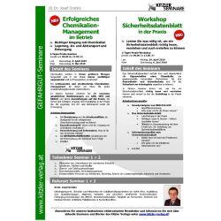 Workshop Sicherheitsdatenblatt in der Praxis