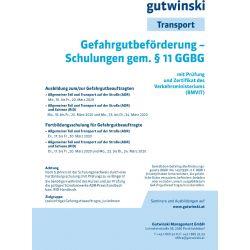 Gefahrgutbeförderung-Schulungen gem. § 11 GGBG