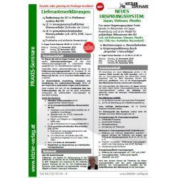 Kombi Seminar: Lieferantenerklärungen & Neues Ursprungssystem: Japan, Vietnam & Mexiko
