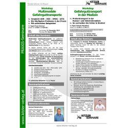 Workshop Gefahrguttransport in der Medizin