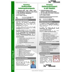 Workshop Multimodale Gefahrguttransporte