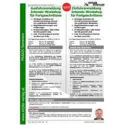 Einfuhranmeldung Intensiv-Workshop für Fortgeschrittene