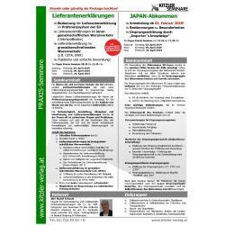 Kombi Seminar Japan-Abkommen & Lieferantenerklärungen