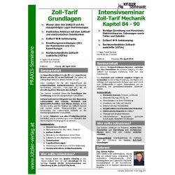 Zoll-Tarif Mechanik (Kap 84-90) Feldkirch