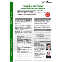 Export in die Türkei
