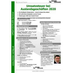 Umsatzsteuer bei Auslandsgeschäften 2020