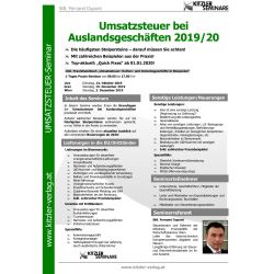 Umsatzsteuer bei Auslandsgeschäften 2019/20