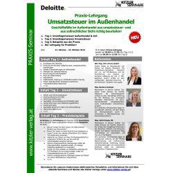 Praxis-Lehrgang Umsatzsteuer im Außenhandel