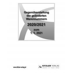 Gegenüberstellung der geänderten Warennummern 2020/21