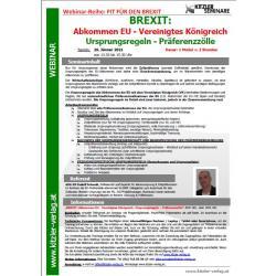 Webinar - Fit für den Brexit - Abkommen EU/Vereinigtes Königreich