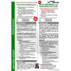 Kombi Seminar: Lieferantenerklärungen & Neue Abkommen und Ursprungssysteme
