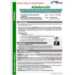 Webinar - Arbeitsrecht
