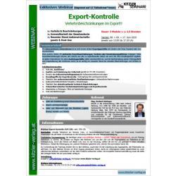 Webinar Export-Kontrolle