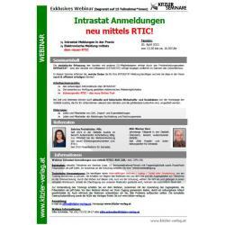 Webinar Intrastat Workshop mittels RTIC!