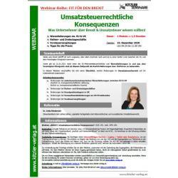 Webinar - Umsatzsteuerrechtliche Konsequenzen