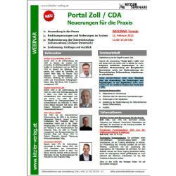 Webinar Portal Zoll / CDA